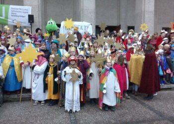 Mitten unter vielen anderen Königen in Ulm, war auch eine eifrige Gruppe aus Neukirch. Foto: pm