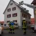 Einsatz wegen eines Kaminbrands: die Rottweiler Feuerwehr am Donnerstag. Foto: gg