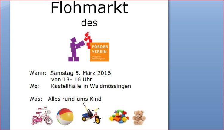 Flohmarkt in Waldmössingen. Foto: pm