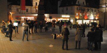 """""""Friedenslicht"""" in Schramberg. Fotos: him"""