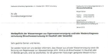 Brief der Stadtwerke. Foto: him