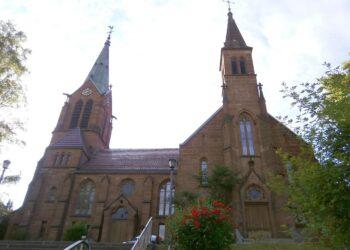 Die evangelische Stadtkirche. Foto: him