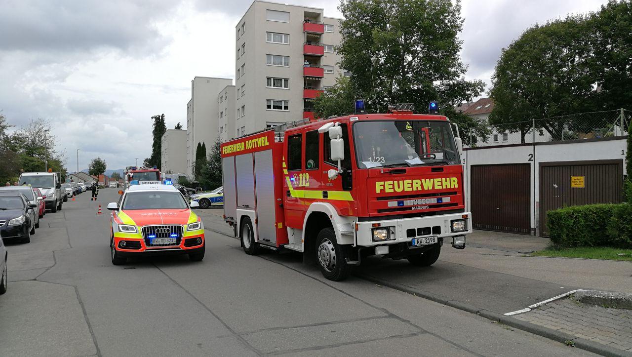 Einsatz in der Zimmerner Straße. Archiv-Foto: Peter Arnegger