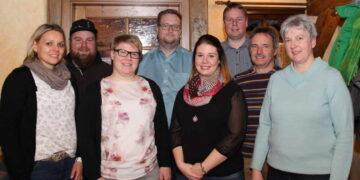Die Gewählten, von links: Sandra Gruler, Andreas Ulmschneider, Carola Müller, Volker Digeser, Jasmin Bihl, Tobias Flaig, Michael Flaig und Andrea Wucher. Foto: pm