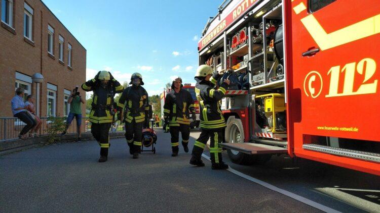 Großübung am Krankenhaus Rottweil. Fotos: Peter Arnegger