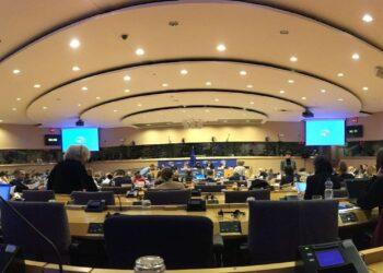 IHK-Verkehrsdelegation in Brüssel: Neben Gesprächen mit der EU-Kommission und den Europaabgeordneten Norbert Lins und Rainer Wieland (beide CDU), Markus Ferber (CSU), Wim van de Camp (CDA), Evelyne Gebhardt und Ismail Ertug (beide SPD), Gesine Meißner (FDP) sowie Georges Bach (CSV) zählte auch eine Sitzung des Verkehrsausschusses (TRANS) im Europäischen Parlament zum Programm. Foto: pm