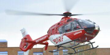 Rettungshubschrauber vor der Rottweiler Helios-Klinik. Foto: pm