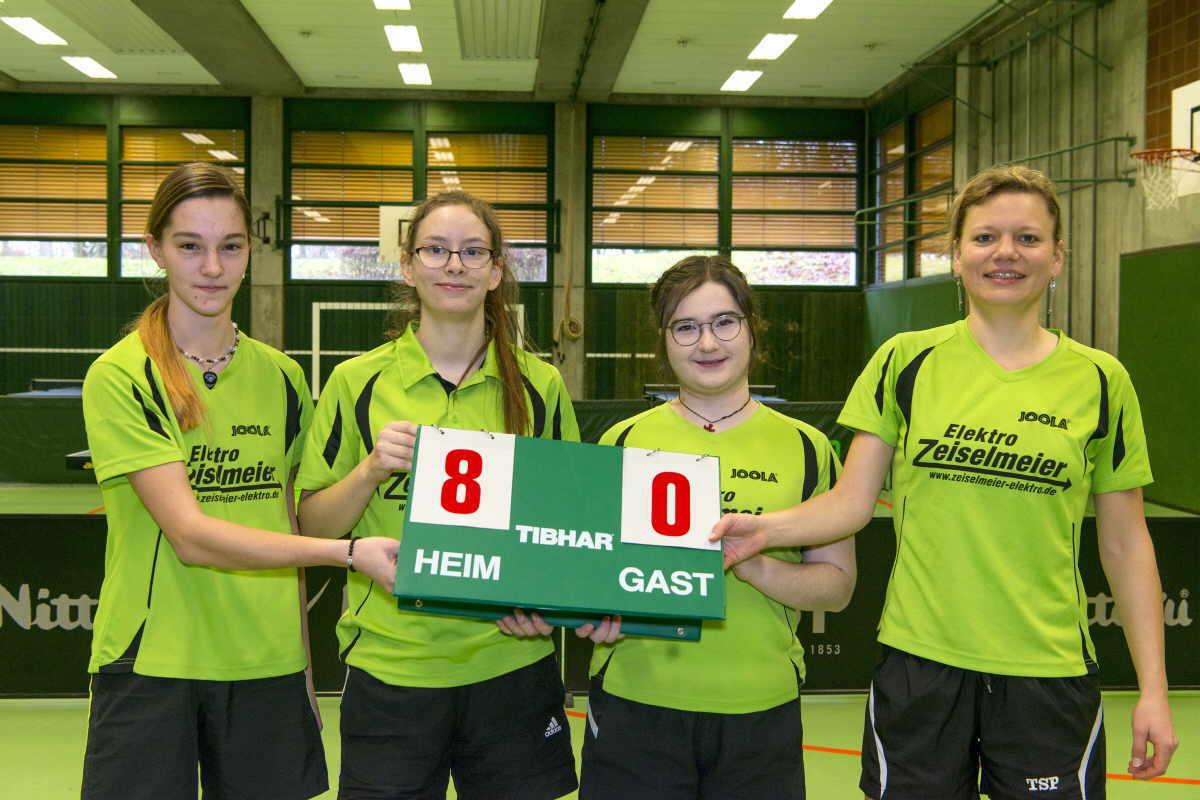 Die Damenmannschaft  Anna Sikeler, Denise Döttling, Selin Wehrmann und Jenny Käshammer (von links). Foto: pm