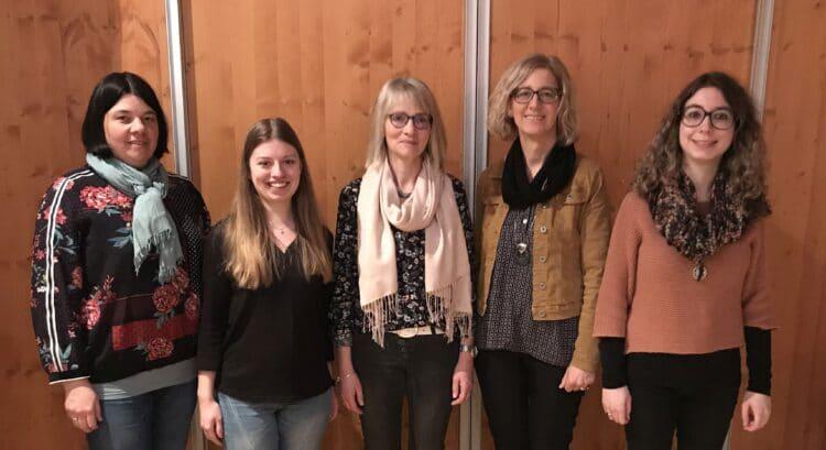 Die gewählten Vorstandsmitglieder (von links): Kassiererin Silvia Jaud, Beisitzerinnen Sandra Trabi und Martina Witz, Vorsitzende Silvia Armbruster und Jugendleiterin Selina Armbruster. Foto: pm