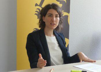 Oberbürgermeisterin Dorothee Eisenlohr beim Pressegespräch. Foto: him