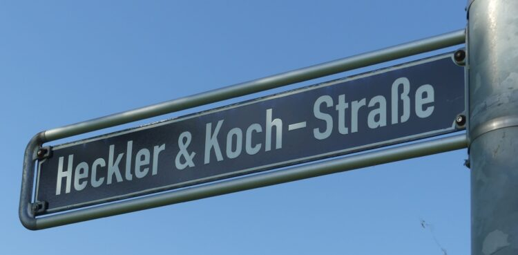 Heckler und Koch- Straße in Oberndorf. Fotos: him