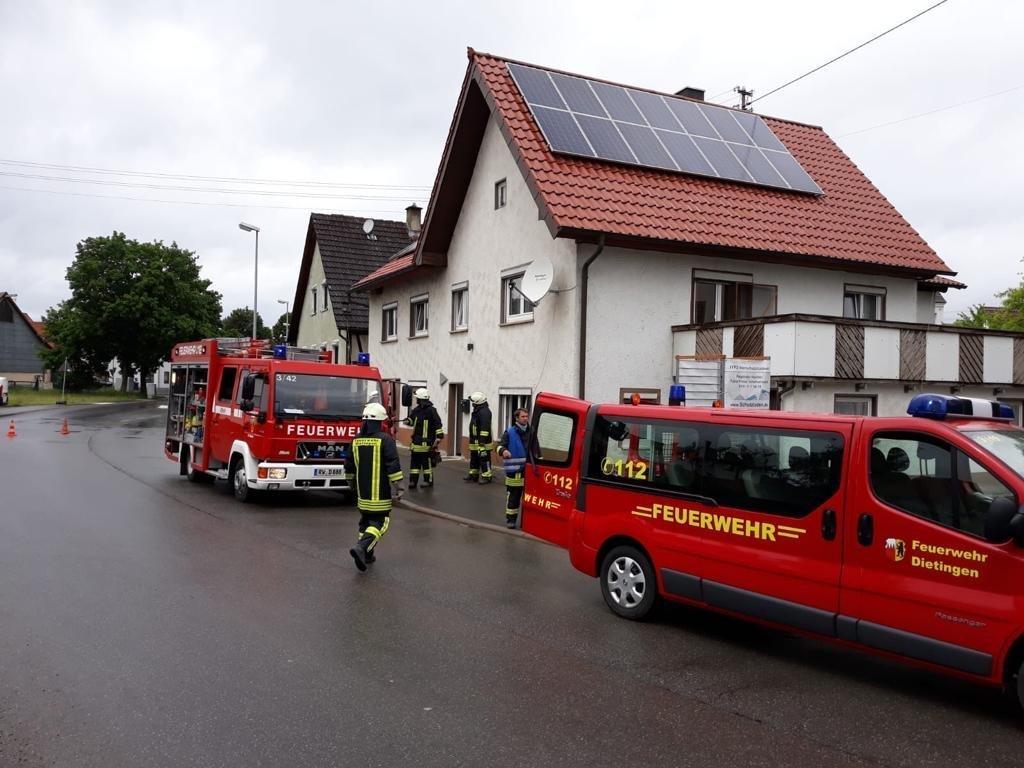 Einsatz der Feuerwehr Dietingen. Foto: fw