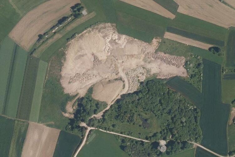 Die Erddeponie Rodelsberg in Waldmössingen. Foto: Geoportal BW