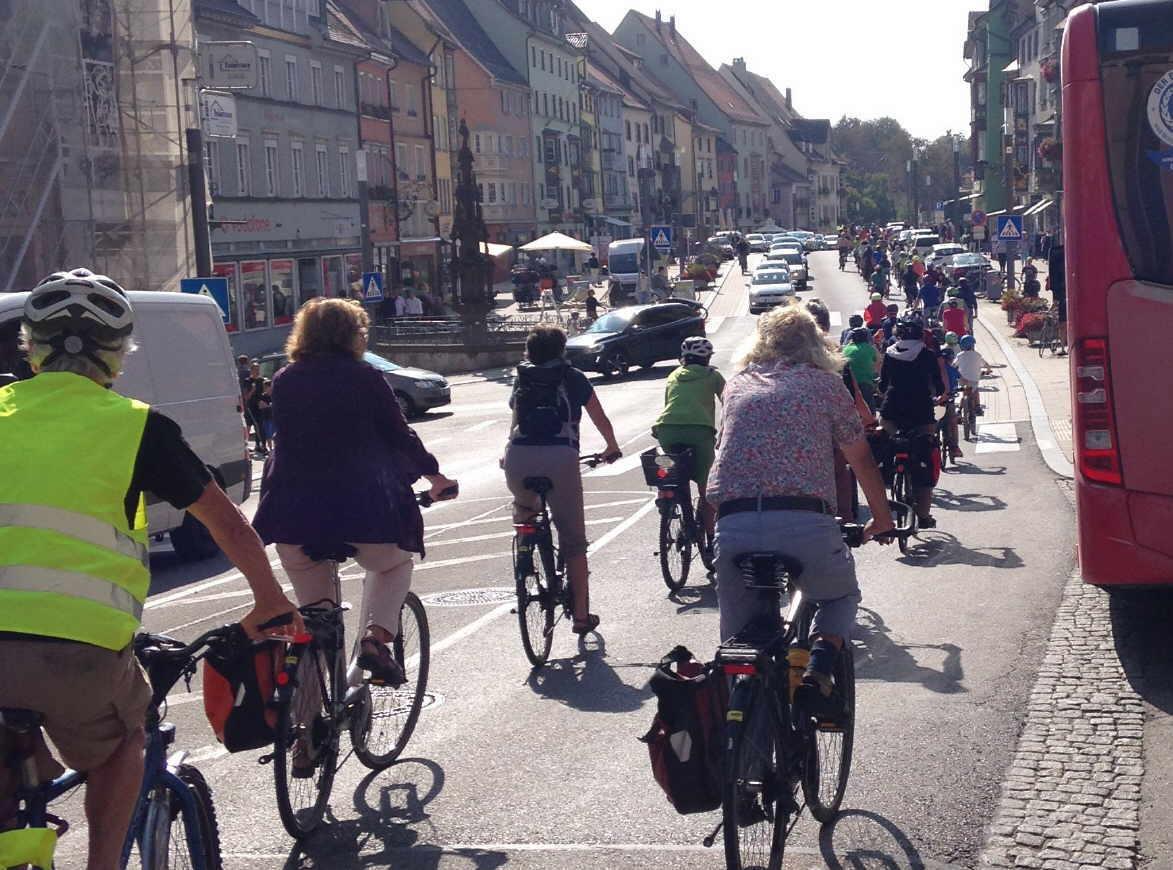 Radler bei der letzten Rad-Demo für ein radfahrfreundliches Rottweil. Archivfoto: Gestrich-Gärtner