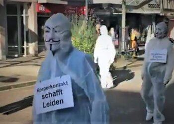 Corona-Demo in Schramberg am 14. November. Quelle: Facebook