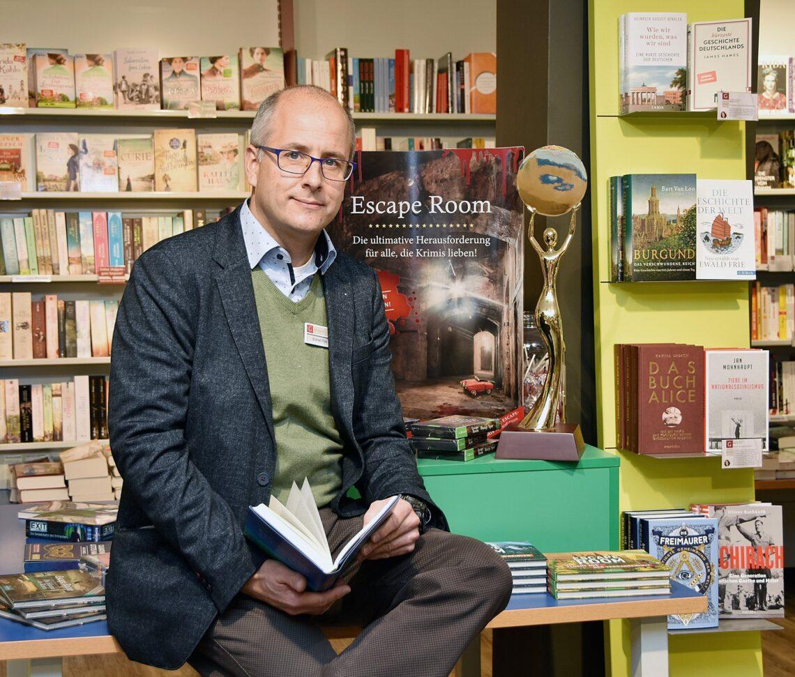 Das freundliche Gesicht von Buch Greuter in Rottweil: Filialleiter Eckhart Fink. Foto: pm