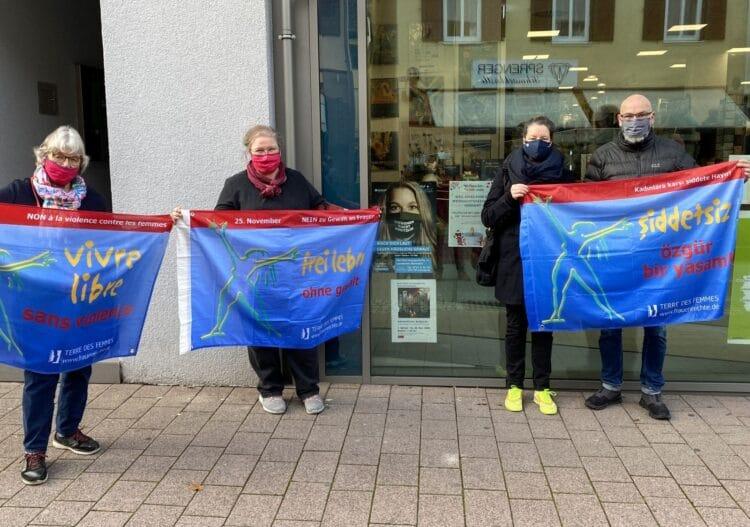 Barbara Olowinsky, Britta Blaurock,Steffi Knebel und Matz Kastning vor der Buchlese. Fotos: pm