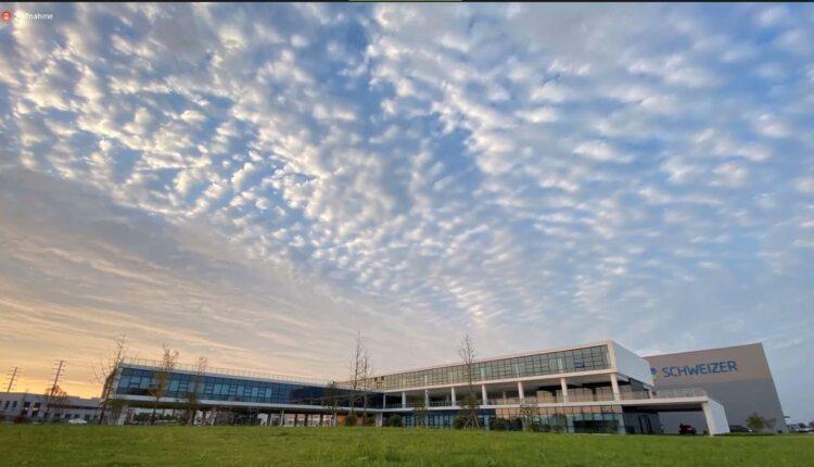 Das neue Werk in China - gezeigt bei der videokonferenz am Freitagvormittag. Screenshots: him