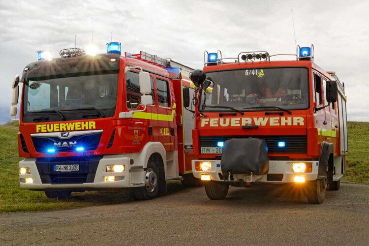 Neues MLF und bisheriges LF8 der Einsatzabteilung Neukirch. Foto: fw