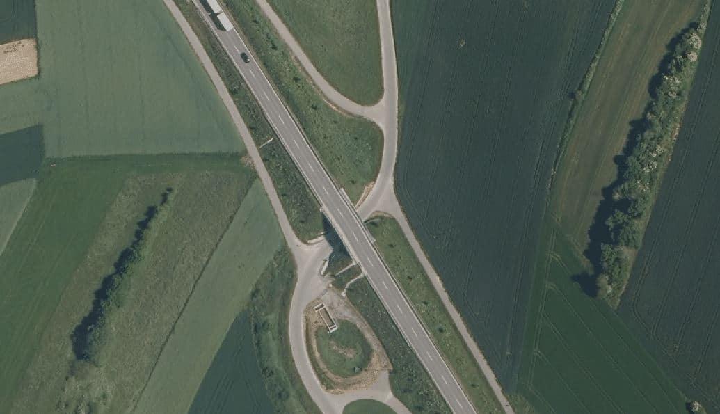 Da wird's eng: Unterführung im Gewann Stittholz. Foto: Geoportal BW