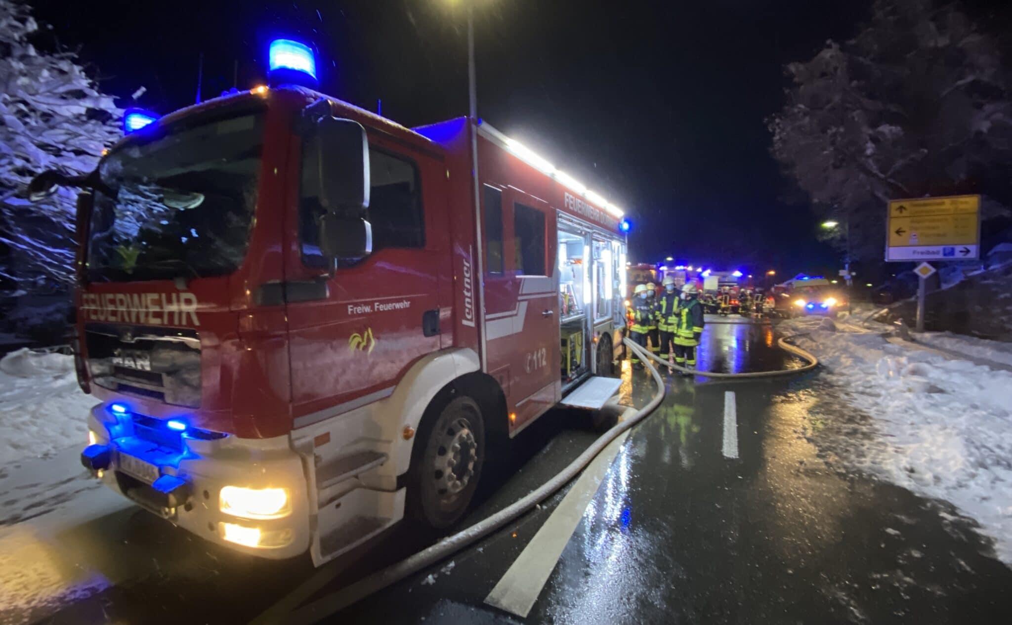 Feuerwehr Dornhan im Einsatz. Alle Fotos: gg