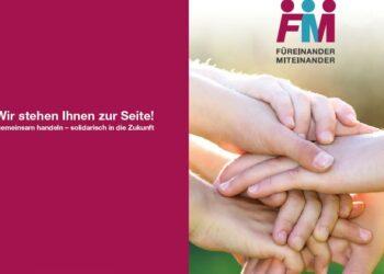 Titelseite: Flyer Füreinander-miteinander.