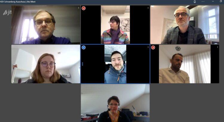 Schramberger HGV-Mitglieder diskutierten mit Daniel Karrais (Bildmitte) Foto: pm