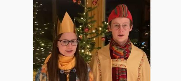 Die Sternsinger im Video. Screenshot: him
