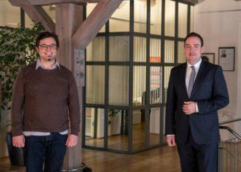 Bürgermeister Peter Schumacher mit SPD-Landtagskandidat Torsten Stumpf. Foto: pm