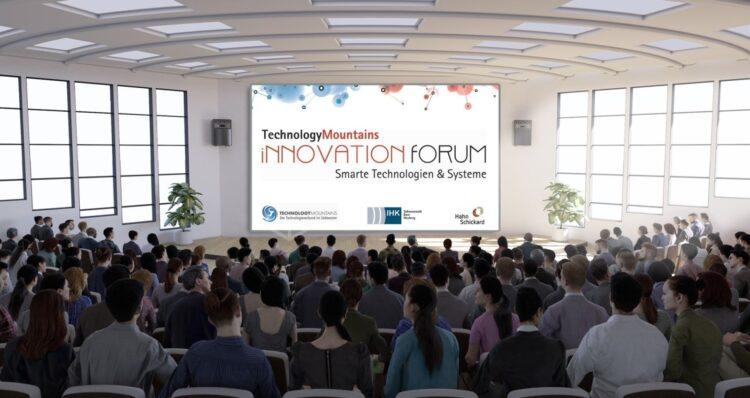 Das InnovationForum Smarte Technologien & Systeme findet als Messe und Netzwerkplattform bereits zum 12. Mal statt, in diesem Jahr erstmals als virtueller Kongress. Grafik: IHK