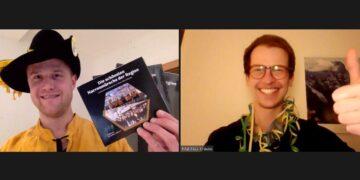 """Peter Flaig und Matthias Krause bei der """"CD-Präsentation"""" im Internet. Foto: pm"""