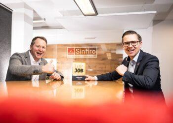 Geschäftsführer von Sinfiro:  Joachim Wollstädt (links) und Ralf Galster. Foto: pm