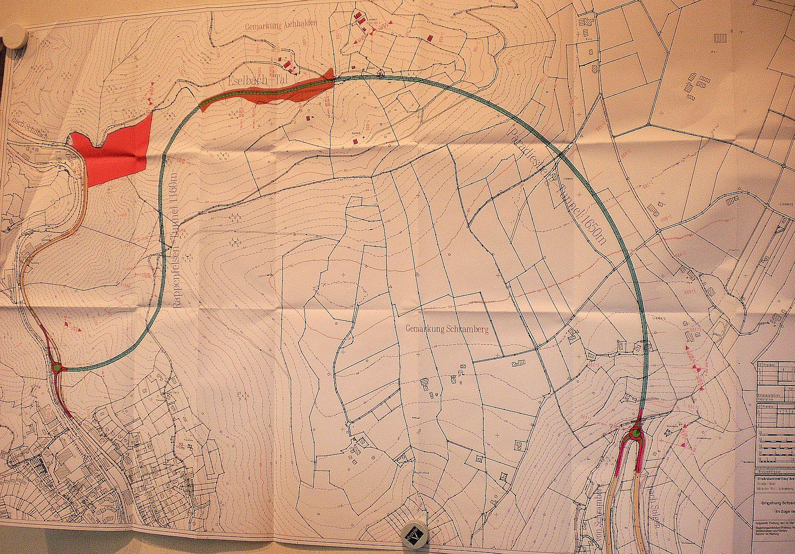 Im August 2009 zeigte die Stadt Schramberg schon die Hess-Variante der Talstadtumfahrung. Archiv-Foto: him