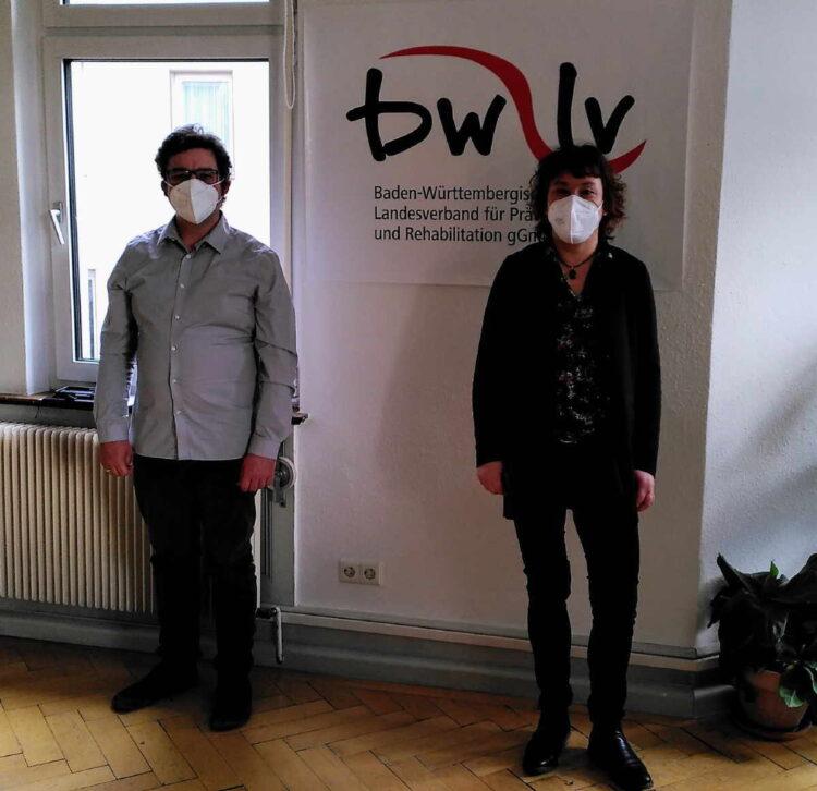 SPD Landtagskandidat Torsten Stumpf mit Leiterin Anja Klingenhöfer. Foto: pm