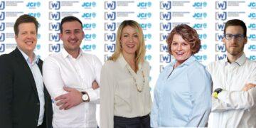 : Der neue WJ-Vorstand von links: Wolf-Dieter Bauer, Ilja Schneider, Saskia Kirchmann, Stefanie Faulhaber und Tobias U. Kiefer (nicht auf dem Bild Lucas Schrenk). Foto: pm