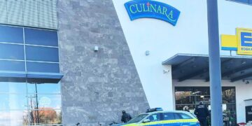 Polizeieinsatz beim Culinara in Rottweil. Foto: privat