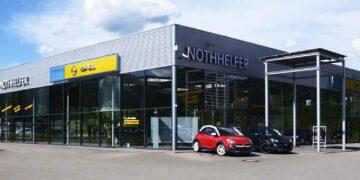 Ein Bild aus besseren Tagen, als Nothhelfer noch zwei Standorte in Tuttlingen hatte, hier das Autohaus im Gewerbegebiet Gänsäcker. Archiv-Foto: wede