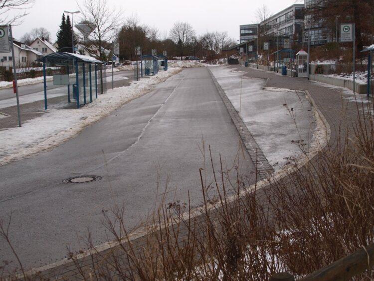 Der Schulbus-Bahnhof an der Heerstraße ist der zentrale Busbahnhof für die Schüler.Foto: rottweil.net/HG