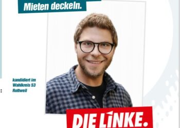 Linke-Kandidat Sven Pfanzelt. Foto: homepage Die Linke