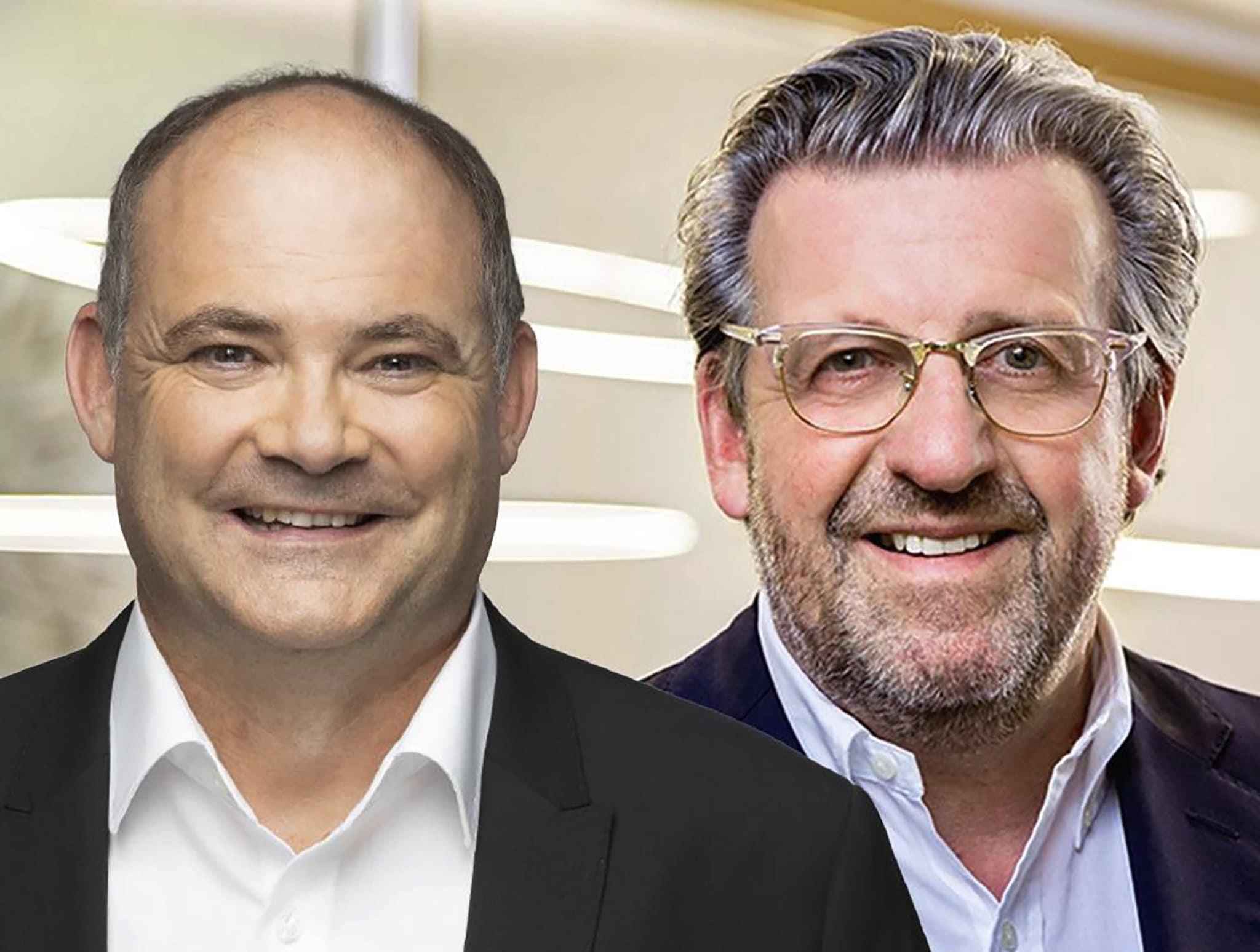 Landtagsabgeordneter der CDU, Stefan Teufel (links),  und ElringKlinger-CEO, Dr. Stefan Wolf laden auf Donnerstag, 4. März 2021 um 19.00 Uhr zu einer Videokonferenz ein. Foto: pm