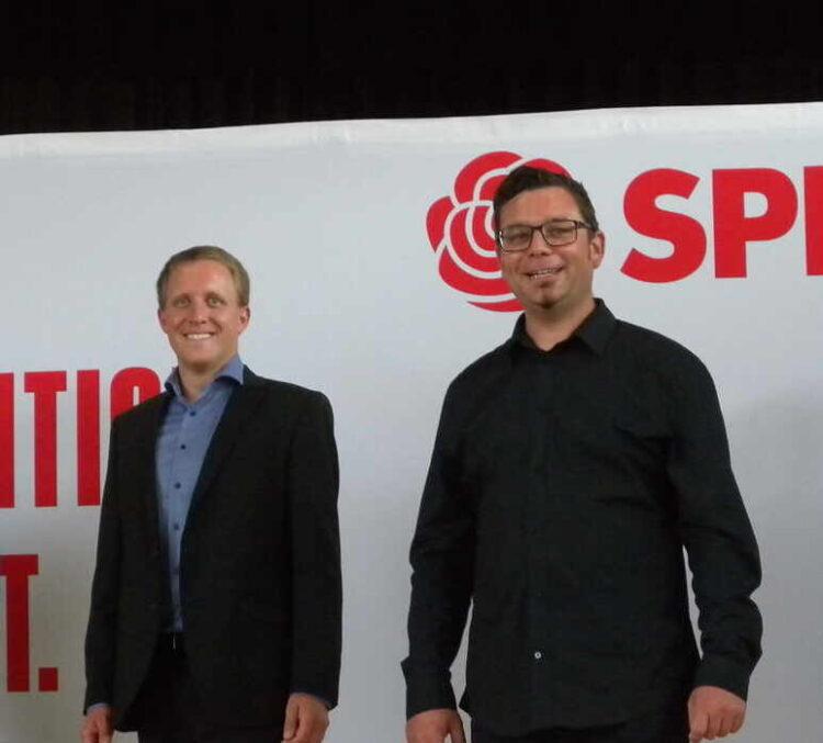 SPD-Landtagskandidat Torsten Stumpf (rechts) und Zweitkandidat Sebstian Holzhauer. Foto: SPD