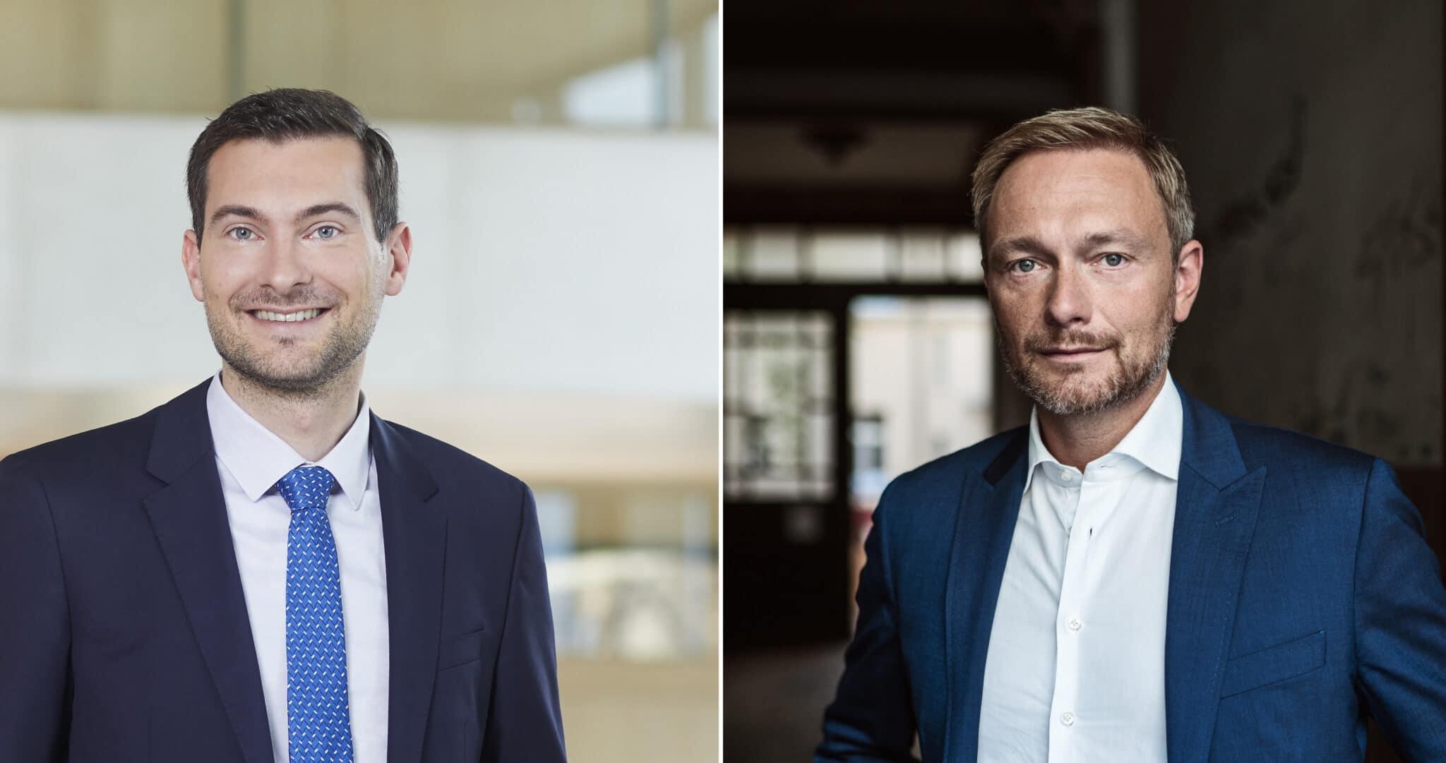 Daniel Karrais (links) und Christian Lindner. Fotos: FDP/DVP Fraktion im Landtag von Baden-Württemberg, pm
