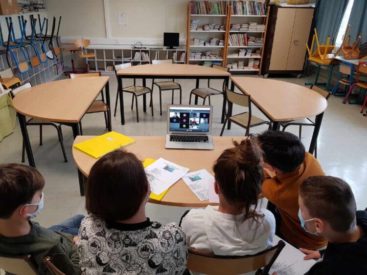Auf auf digitalem Weg wurden erste Erfahrungen mit der Klasse aus Frankreich ausgetauscht.Foto: KWS