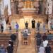 Gottesdienst in der Predigerkirche mit dem Kinderchor von Johannes Vöhringer und Pfarrerin Esther Kuhn-Luz. Foto: pm