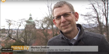 Markus Dreßler aus einem Video von PirnaTV. Screenshot: him