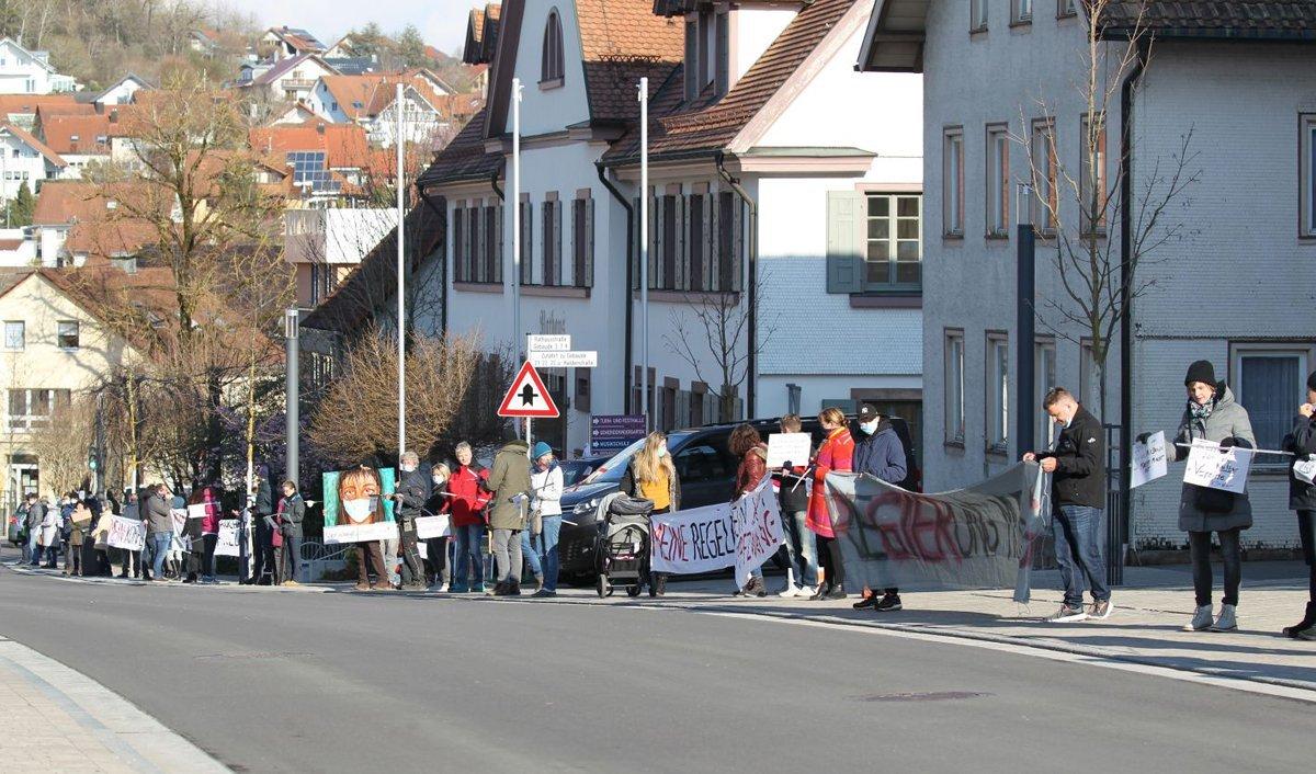 Montagsdemo in Dunningen. Archivbild: Fritz Rudolf