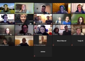 """Die """"Grüne Jugend"""" im Kreis Rottweil gründete sich virtuell. Screenshot: pm"""