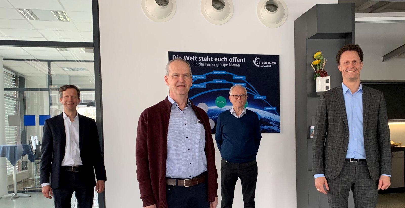 Von links: Clemens Maurer, Rainer Drixler, Martin Maurer und Tobias Maurer. Foto: pm