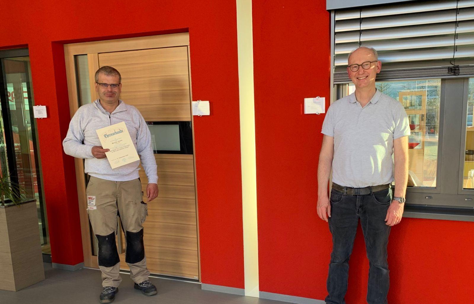 Werner Jäckle und Klaus Armbruster (von links) Foto: pm
