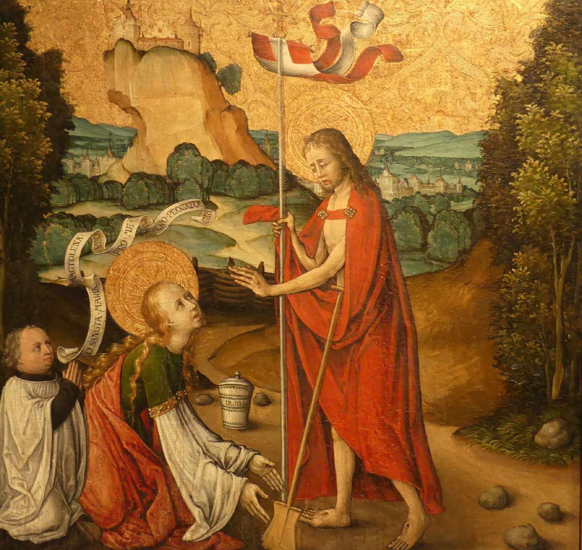 Christus begegnet am Ostermorgen Maria Magdalena,